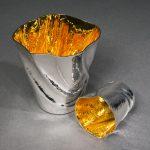 Britannia Silver, Repousse & Gilded Beakers